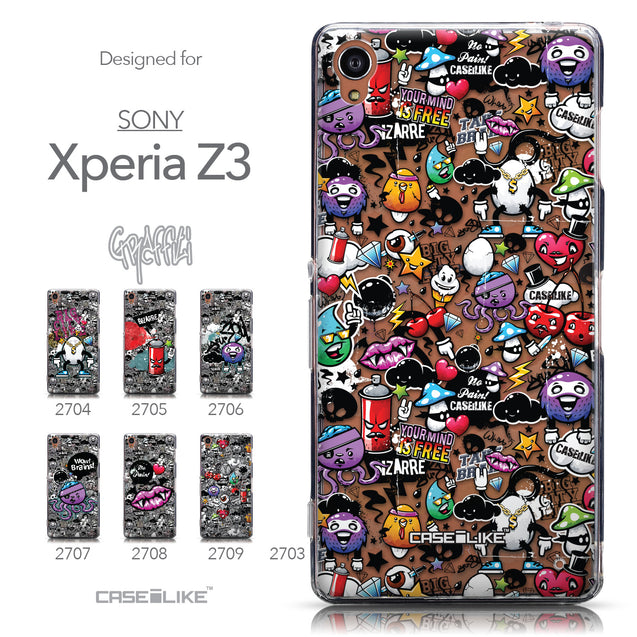 Collection - CASEiLIKE Sony Xperia Z3 back cover Graffiti 2703