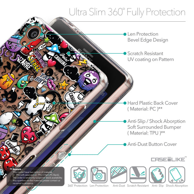 Details in English - CASEiLIKE Sony Xperia Z3 back cover Graffiti 2703