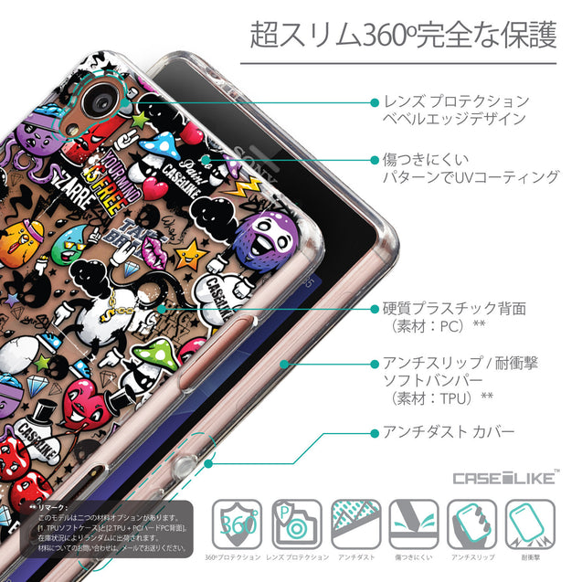 Details in Japanese - CASEiLIKE Sony Xperia Z3 back cover Graffiti 2703