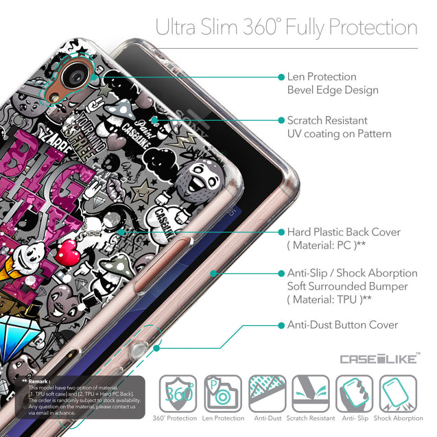 Details in English - CASEiLIKE Sony Xperia Z3 back cover Graffiti 2704