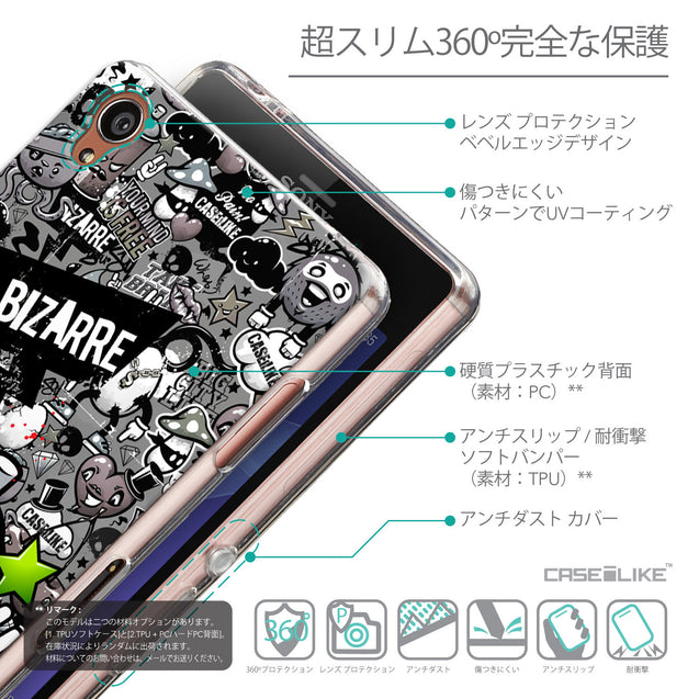 Details in Japanese - CASEiLIKE Sony Xperia Z3 back cover Graffiti 2705