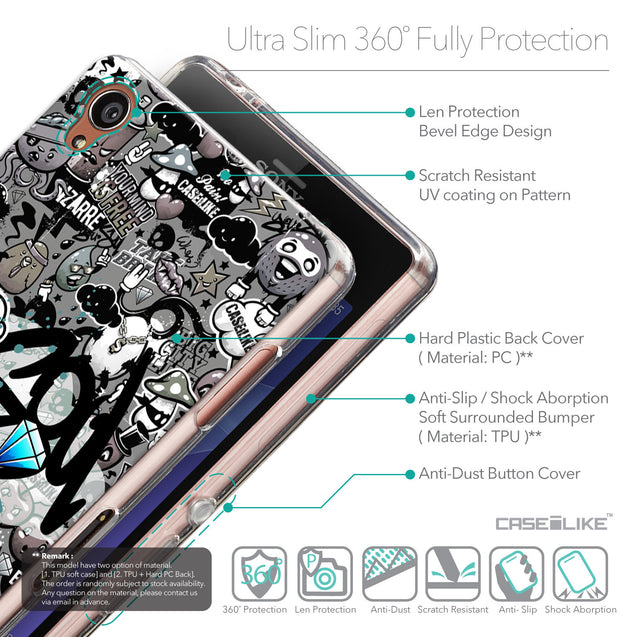 Details in English - CASEiLIKE Sony Xperia Z3 back cover Graffiti 2706