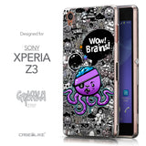 Front & Side View - CASEiLIKE Sony Xperia Z3 back cover Graffiti 2707