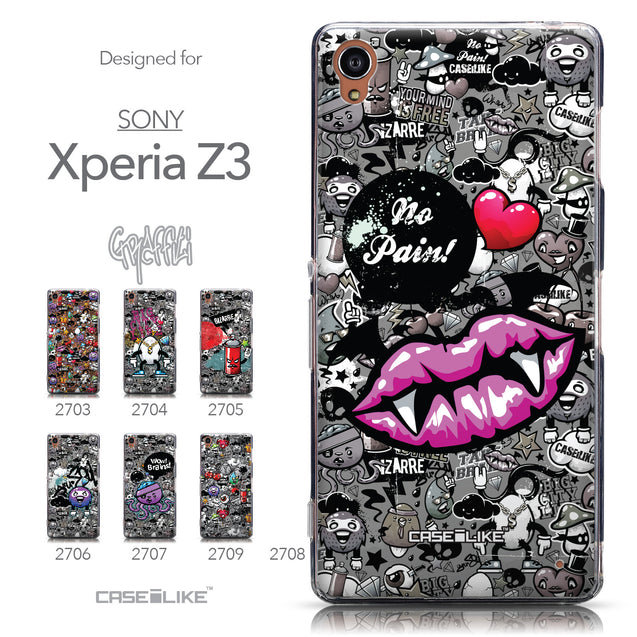 Collection - CASEiLIKE Sony Xperia Z3 back cover Graffiti 2708