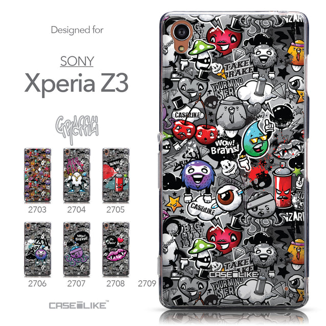 Collection - CASEiLIKE Sony Xperia Z3 back cover Graffiti 2709