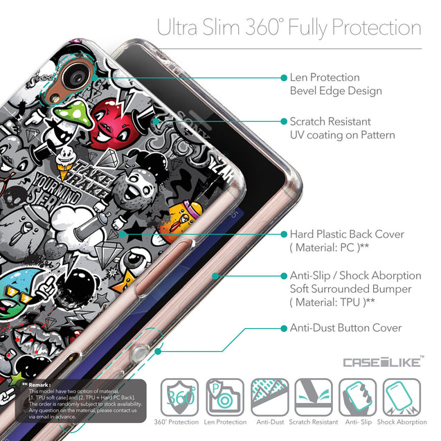 Details in English - CASEiLIKE Sony Xperia Z3 back cover Graffiti 2709