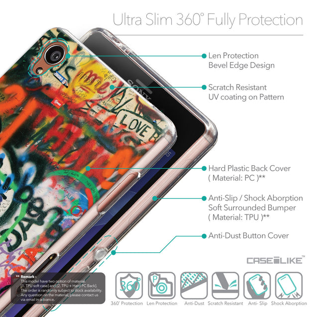 Details in English - CASEiLIKE Sony Xperia Z3 back cover Graffiti 2721