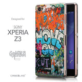 Front & Side View - CASEiLIKE Sony Xperia Z3 back cover Graffiti 2722