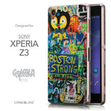 Front & Side View - CASEiLIKE Sony Xperia Z3 back cover Graffiti 2723