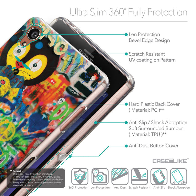 Details in English - CASEiLIKE Sony Xperia Z3 back cover Graffiti 2723