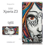 Collection - CASEiLIKE Sony Xperia Z3 back cover Graffiti Girl 2724