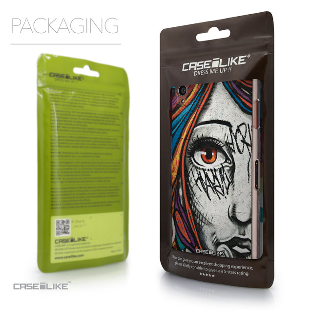 Packaging - CASEiLIKE Sony Xperia Z3 back cover Graffiti Girl 2724