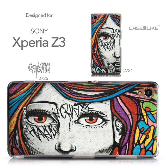 Collection - CASEiLIKE Sony Xperia Z3 back cover Graffiti Girl 2725
