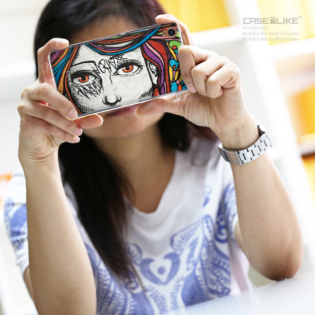 Share - CASEiLIKE Sony Xperia Z3 back cover Graffiti Girl 2725