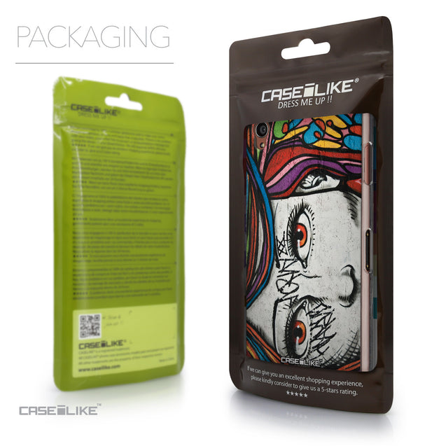 Packaging - CASEiLIKE Sony Xperia Z3 back cover Graffiti Girl 2725