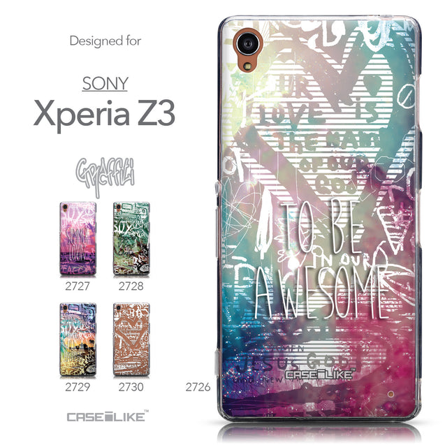 Collection - CASEiLIKE Sony Xperia Z3 back cover Graffiti 2726