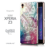 Front & Side View - CASEiLIKE Sony Xperia Z3 back cover Graffiti 2726