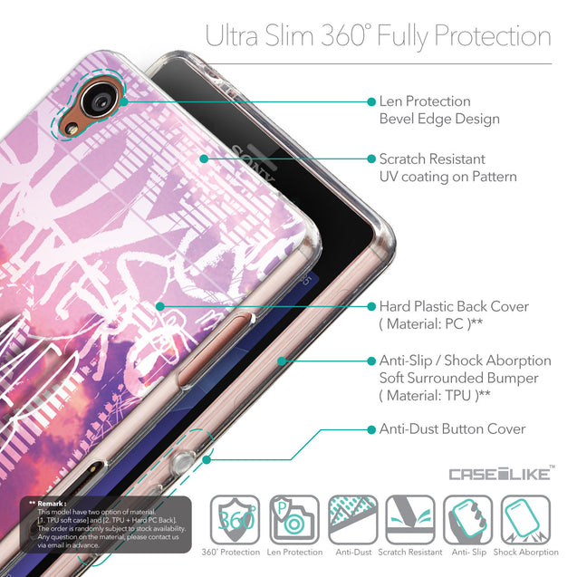 Details in English - CASEiLIKE Sony Xperia Z3 back cover Graffiti 2727