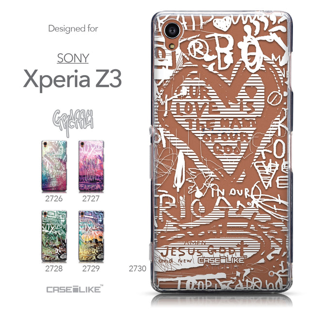 Collection - CASEiLIKE Sony Xperia Z3 back cover Graffiti 2730