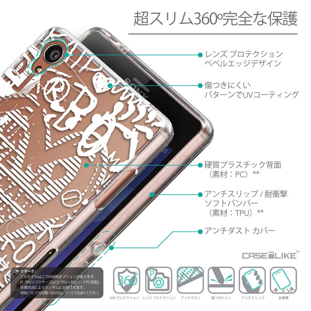 Details in Japanese - CASEiLIKE Sony Xperia Z3 back cover Graffiti 2730