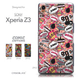 Collection - CASEiLIKE Sony Xperia Z3 back cover Comic Captions Pink 2912