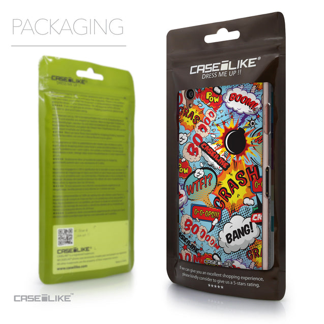 Packaging - CASEiLIKE Sony Xperia Z3 back cover Comic Captions Blue 2913