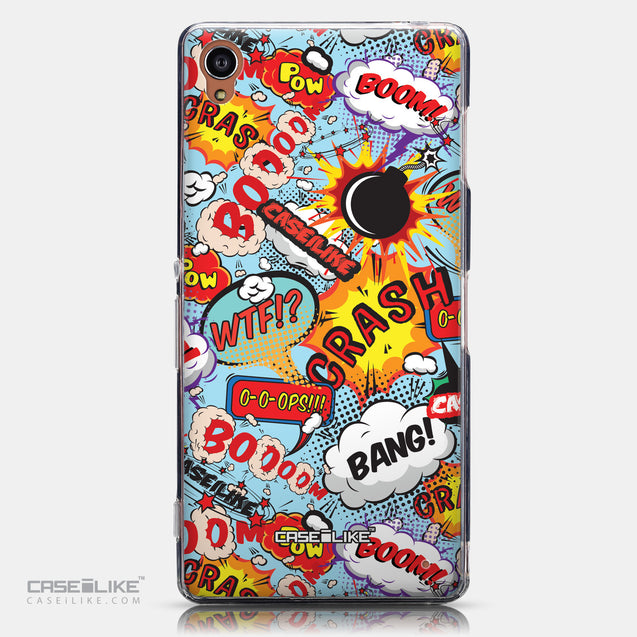 CASEiLIKE Sony Xperia Z3 back cover Comic Captions Blue 2913