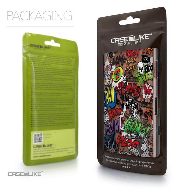 Packaging - CASEiLIKE Sony Xperia Z3 back cover Comic Captions 2914