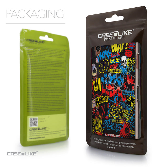 Packaging - CASEiLIKE Sony Xperia Z3 back cover Comic Captions Black 2915