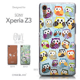 Collection - CASEiLIKE Sony Xperia Z3 back cover Owl Graphic Design 3312