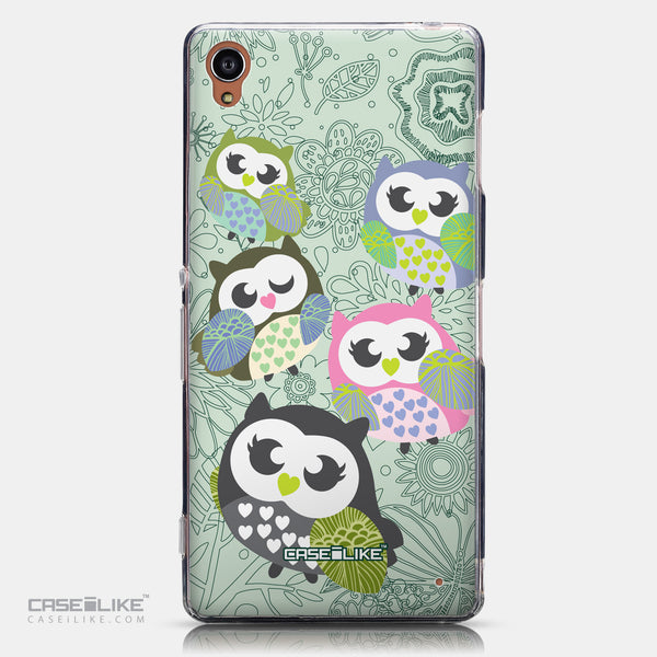 CASEiLIKE Sony Xperia Z3 back cover Owl Graphic Design 3313