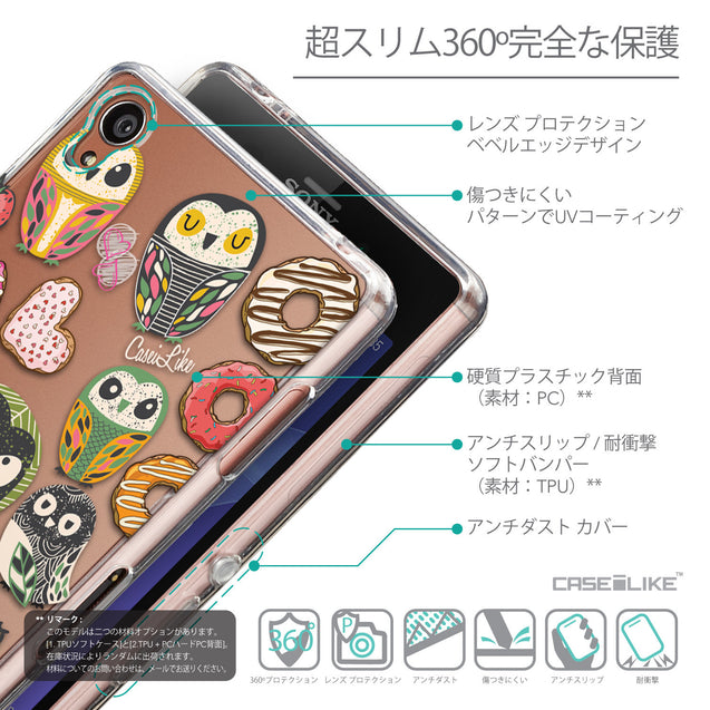 Details in Japanese - CASEiLIKE Sony Xperia Z3 back cover Owl Graphic Design 3315