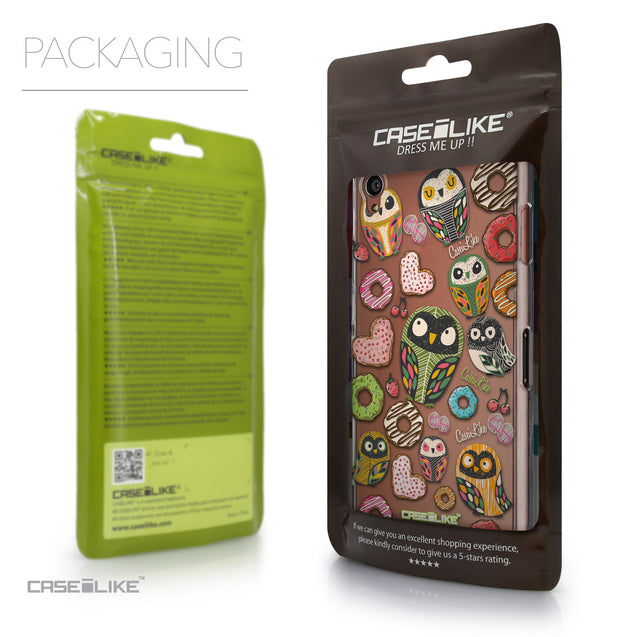 Packaging - CASEiLIKE Sony Xperia Z3 back cover Owl Graphic Design 3315