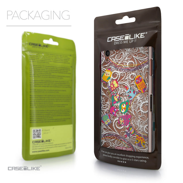 Packaging - CASEiLIKE Sony Xperia Z3 back cover Owl Graphic Design 3316