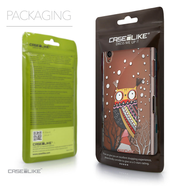 Packaging - CASEiLIKE Sony Xperia Z3 back cover Owl Graphic Design 3317