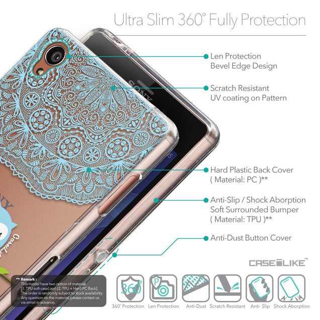Details in English - CASEiLIKE Sony Xperia Z3 back cover Owl Graphic Design 3318