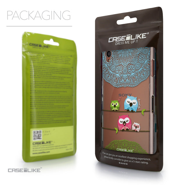 Packaging - CASEiLIKE Sony Xperia Z3 back cover Owl Graphic Design 3318