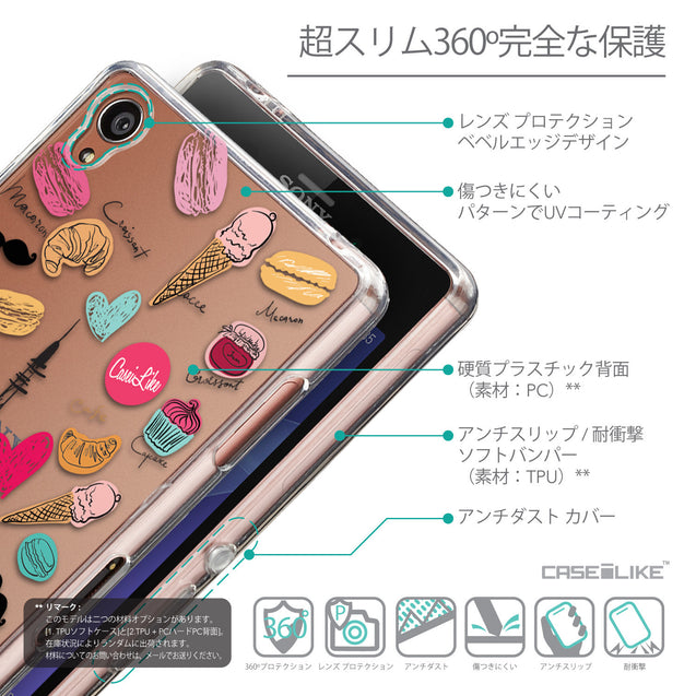 Details in Japanese - CASEiLIKE Sony Xperia Z3 back cover Paris Holiday 3904