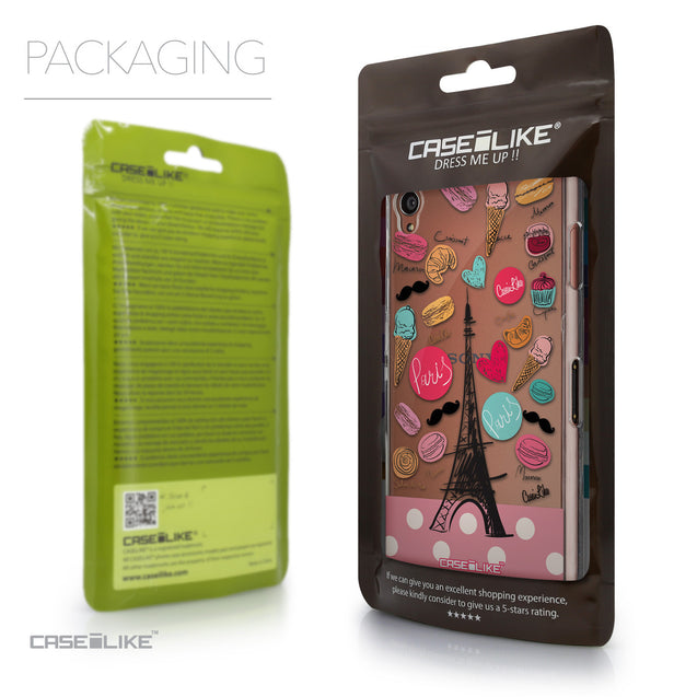 Packaging - CASEiLIKE Sony Xperia Z3 back cover Paris Holiday 3904