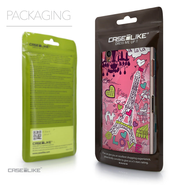 Packaging - CASEiLIKE Sony Xperia Z3 back cover Paris Holiday 3905