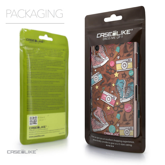 Packaging - CASEiLIKE Sony Xperia Z3 back cover Paris Holiday 3906