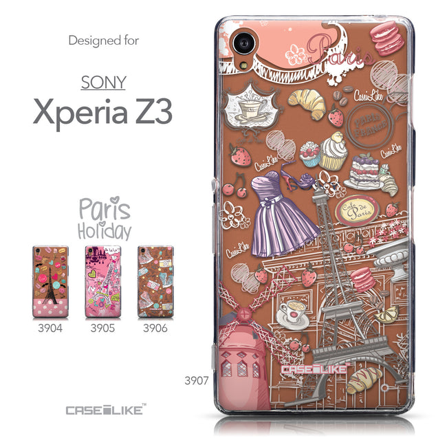 Collection - CASEiLIKE Sony Xperia Z3 back cover Paris Holiday 3907