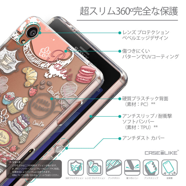 Details in Japanese - CASEiLIKE Sony Xperia Z3 back cover Paris Holiday 3907