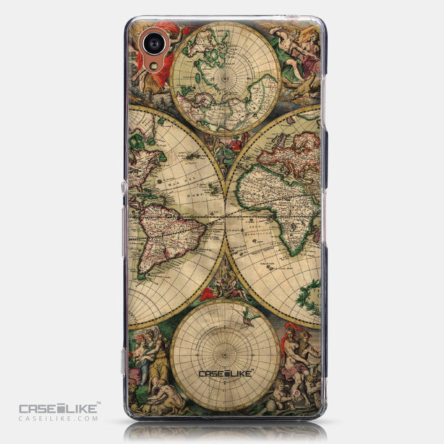 CASEiLIKE Sony Xperia Z3 back cover World Map Vintage 4607