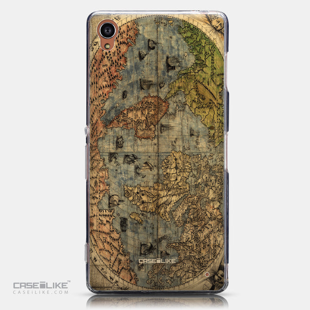 CASEiLIKE Sony Xperia Z3 back cover World Map Vintage 4608