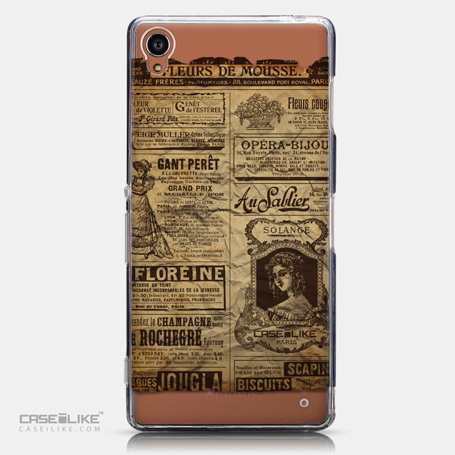 CASEiLIKE Sony Xperia Z3 back cover Vintage Newspaper Advertising 4819