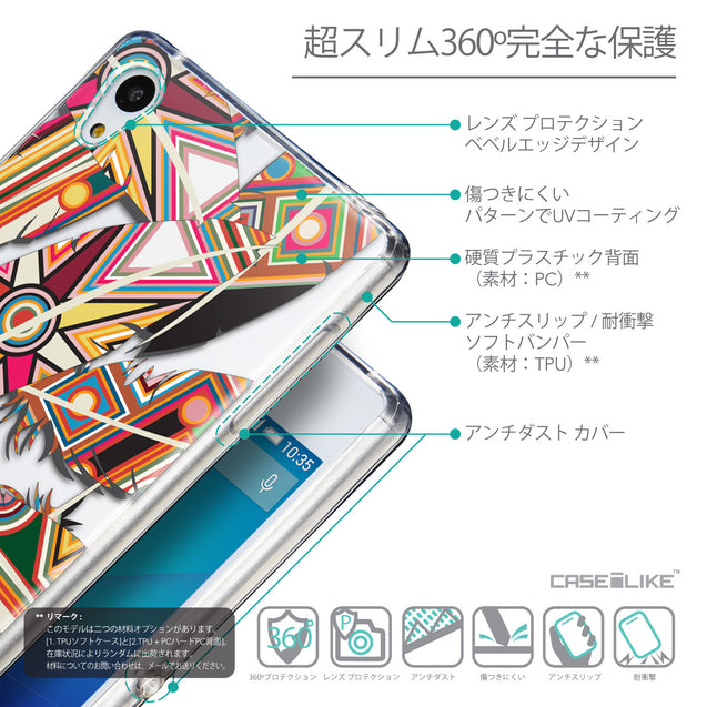 Details in Japanese - CASEiLIKE Sony Xperia Z3 Plus back cover Indian Tribal Theme Pattern 2054