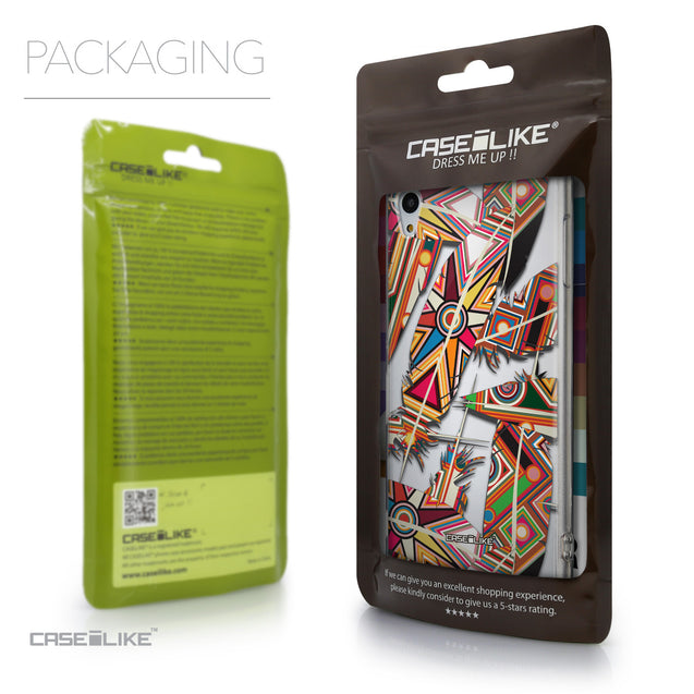 Packaging - CASEiLIKE Sony Xperia Z3 Plus back cover Indian Tribal Theme Pattern 2054