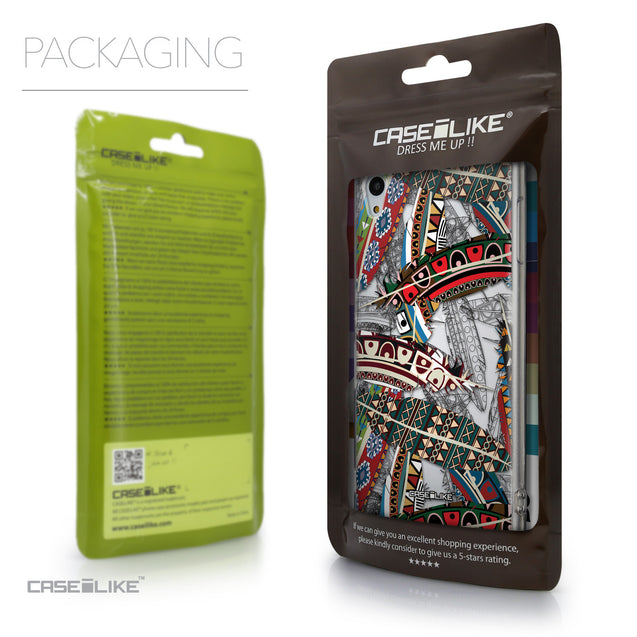 Packaging - CASEiLIKE Sony Xperia Z3 Plus back cover Indian Tribal Theme Pattern 2055