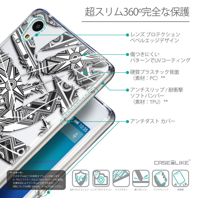 Details in Japanese - CASEiLIKE Sony Xperia Z3 Plus back cover Indian Tribal Theme Pattern 2056